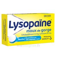 LysopaÏne Comprimés à Sucer Maux De Gorge Sans Sucre 2t/18 à MARSEILLE