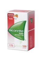 Nicorette 2 Mg Gomme à Mâcher Médicamenteuse Sans Sucre Fruits Plq/105 à MARSEILLE