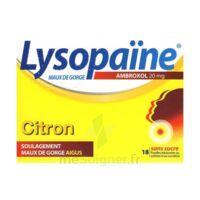LysopaÏne Ambroxol 20 Mg Pastilles Maux De Gorge Sans Sucre Citron Plq/18 à MARSEILLE