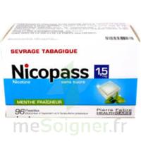 Nicopass 1,5 Mg Pastille Sans Sucre Menthe Fraîcheur Plq/96 à MARSEILLE