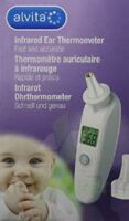 ALVITA Thermomètre auriculaire infrarouge +20 embouts à MARSEILLE