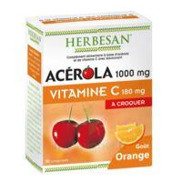 Herbesan Acérola 1000 Comprimés à croquer orange B/30 à MARSEILLE