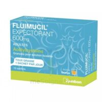 Fluimucil Expectorant Acetylcysteine 600 Mg Glé S Buv Adultes 10sach à MARSEILLE