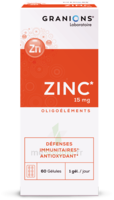 Granions Zinc 15mg Gélules B/60 à MARSEILLE