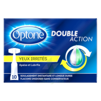 Optone Monodose Double Action Solution Oculaire Yeux Irrités B/10 à MARSEILLE